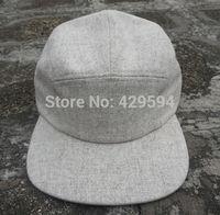 New arrival solid wool fabric 5 panel blank winter cap warm hat camp cap hiphop hat custom headwear snapback cap baseball hat