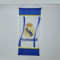 wholesale 9 teams you can choose big size 110*42 cm real madrid  beer flags and banners