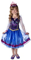 Frozen Anna Enchanting Dress Kids Children Girl Costume Baby Girls Princess Party Cosplay Clothing Full Sleeve Purple Cameo 2-7Y