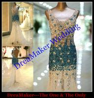 WLF119 Crystal Beaded Long Evening Dresses Vintage Styles Real Photos Prom Dresses Luxury vestidos de noite