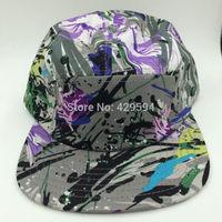 New arrival floral pattern camp cap 5 panel camo hat hiphop hat custom headwear snapback cap baseball hat