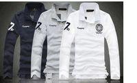 plus size M L XL XXL XXXL 4XL 5XL white black Fashion men breathable cotton Solid long sleeve casual camisas polo shirt new 2014