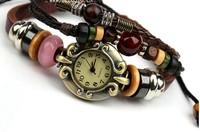 Vintage leather bracelet table Manufacturers selling leather bracelet table Leather accessories 5pcs