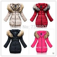 new 2014 girls winter children outerwear&down coat, thick warm kids winter coat girls,fashion children down jacket, free ship