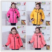 New 2014 fashion baby girls winter coat, long children outerwear , brand Cashmere parka down cotton winter jacket roupas meninas