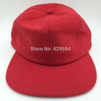 six panel blank red wool polo hat warm winter hat hip hop baseball cap custom headwear snapback cap