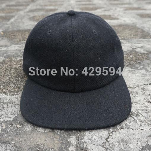 HighFly wholesale six panel blank wool polo hat warm winter hat hip hop baseball cap custom headwear snapback cap(China (Mainland))