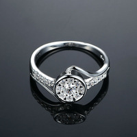High quality 925 Sterling silver fashion jewelry ,Austrian crystal jewelry ring,wholesale R444