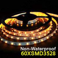 Free shippingLED Strip Light Ribbon Single Color 60 pcs/m SMD 3528 Non-waterproof DC 12V White/Warm White/Red/Green/Blue/Yellow,