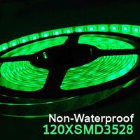 Free shippingLED Flexible Strip Single Color Ribbon 120led/m SMD 3528 Non-waterproof DC12V White/Warm White/Red/Green/Blue/Yello