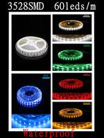 Waterproof 5m 300Led LED Strip 3528 SMD Flexible light 60Led/m IP65 DC 12V Single Colour / RGB for Home Decoration