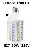 2014 Ultrabright 5730 SMD E27 Led Light LED Corn Lamp Bulb Light Energy Saving 30W E27 220V 98 LEDs White/Warm White