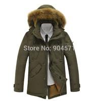 Men Winter Jacket New Brand Down Parka Coat Raccoon Big Fur Detachable Thicken Casual Warm Military Overcoat Outwear -40 Degrees