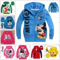 Free shipping cute cartoon hello kitty frozen children hoody,kids sport Sweater,baby boys girls roupa infantil & outerwear.