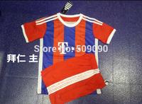 15 A+++ B/ayernNumich Home Kids/ Chirdren Embroidery Soccer Jersey/ Uniform Sports Clothing BM Player Version Kits Shirt+Shorts