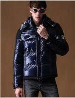 2014 New Fashion Winter Thicken Fleece Hoodie Patchwork Warm Parka Men Coat Zipper Casual Outwear Jacket