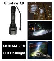 Wholesale 2014 Hot UltraFire C8 CREE XML T6 2000 lumens Waterproof 5Modes LED Flashlight Torch light outdoor lighting