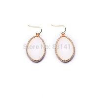 Famous Brand White Shell Fish hook Earrings For Women 2014 Fashion Jewelry Free Shipping