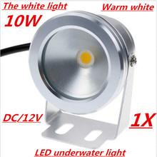 12v 10w 900lm blanco cálido blanco frío luces submarinas estanque piscina fuente de luz lámparas spot ip67 resistente al agua + 2 años de garantía(China (Mainland))