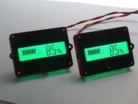 lead LiPo batteries indicator Battery capacity LCD Digital Backlit Tester for 12V-48v 36v Lead Acid Lithium LiPo car