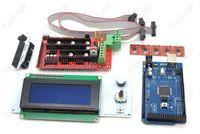 RAMPS 1.4   Mega 2560 R3   5pcs A4988 stepstick   2004 LCD Controller For 3D Printer Kit  Arduino