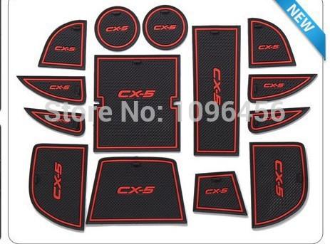 Brand new!glowing 2012 2013 Mazda CX-5 CX 5 Non-Slip Interior door pad/cup mat for Mazda CX-5 CX 5 auto accessories(China (Mainland))