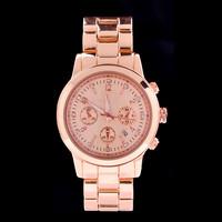 ePacket CPAM Shipping 2014 Hot Sell New Fashion Luxury Brand Women Dress Watch Rose Gold Wristwatch