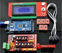 RAMPS 1.4   Mega 2560 R3   5pcs A4988 stepstick   2004 LCD Controller  For 3D Printer Arduino