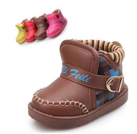 children winter snow boots Thickening of knitting girls male to keep warm Waterproof non-slip children's boots children shoes
