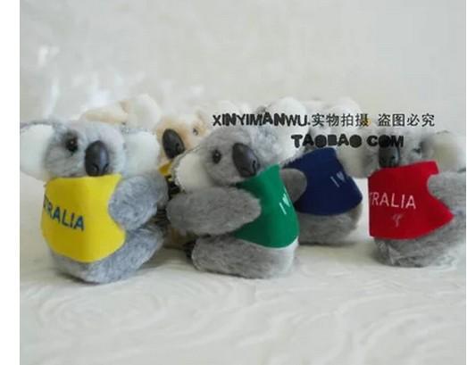 Australia koala plush toys plush cartoon bear souvenir clip medium 6cm for kids toys(China (Mainland))