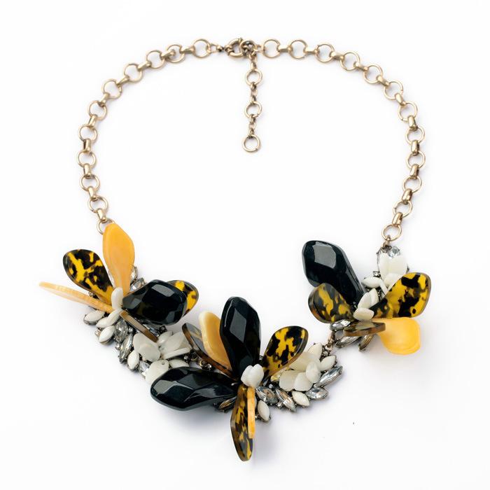 N10095 butterfly yellow Women Fashion Jewelry designer inspired Luxury statement necklace & pendant choker bib collar(China (Mainland))