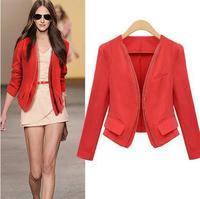 Free Shipping 2014 Jackets Suit Slim Ladies Blazers Work Wear Blazer Womens Blazer New 85