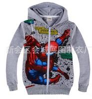 New boys cartoon spiederman outerwear kids Autumn spring terry coat children's leisure sports jackets in stock