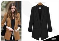 Fashion Jacket Blazer Women Suit Foldable Long Sleeves Lapel Coat Lined Vogue Blazers Jackets XL 356