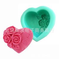 (2pcs/)lot  I love you roses cake tools  jelly pudding mold fondant cake baking DIY tool soap mold LI-DGM02