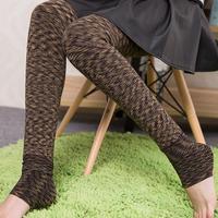 Thick Slim Leopard Leggings women colorful striped legging LI-ddk05 New 2014 Winter Leggings