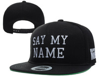 2014 Hot Sale Fashion New Casual Embroidery Letters SAY MY NAME Snapbacks Hip-Hop Hats Adjustable Baseball Caps for Men & Women