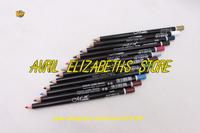 Wholesales M.N 12 Colors Eyeliner Pencil Waterproof Eyebrow Beauty Pen Eye Liner Lip sticks Eyes Makeup 120Bag/Lot Free Shipping