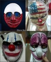 2015 HOT!!!  Free Shipping online Payday 2 wolf Resin mask Heist Joker Masquerade Halloween Cosplay mask (4 patterns)