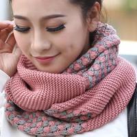Free shipping  Fashion Winter Women Scarf  Warm Knit Neck Snood  Ring Shawl LI-WB01