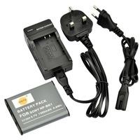 DSTE NP-BK1 Li-ion Battery and EU&UK Charger for Sony Cyber-shot DSC-S750, DSC-S780, DSC-S950, DSC-S980, DSC-W180