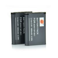 2PCS DSTE NP-BX1 Li-ion Battery compatible for Sony Cyber-shot DSC-RX1R, DSC-RX1R/B, DSC-HX300, DSC-RX1, DSC-RX100