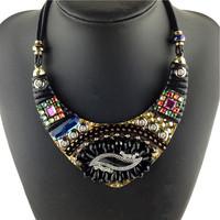 Designer Brand Crystal Fashion Luxury Necklaces & Pendants Vintage Choker Statement Necklace Women Pendant Necklace Wholesale