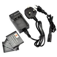 DSTE 3PCS NP-FT1 Li-ion Battery and EU&UK Charger for Sony DSC-L1, DSC-L1/B, DSC-L1/L, DSC-L1/LJ, DSC-L1/R, DSC-L1/S, DSC-M1