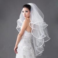 Bride wedding hair accessory veil Four layers quality yarn