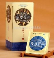 Dried tangerine peel Pure Tea,China Ripe Puer Slimming Tea ,Small Packet Tea 40g, 25 packets per box  298