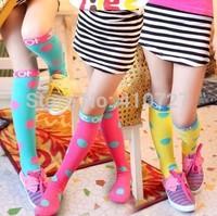 2014 candy color fashion girl leg warmers kid's knee high socks children leg warmer 5 pairs/lot free shipping