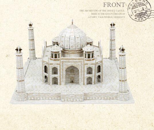 India Taj Mahal New Stylish Top Quality Intelligence 3D Educational Diy Jigsaw Puzzle Brinquedos Paper Toy Scale Models J2 WJ053(China (Mainland))