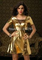 New Arrival Fashion Sexy Mesh Club Dress A Line Mini Pu Vestidos Dresses