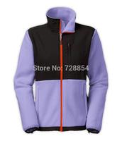 2014 New arrival Fashion Popular Outdoor Sports Clothes Purple Color Jacket   Warm Fleece Women's  Coat 5 Colors 299